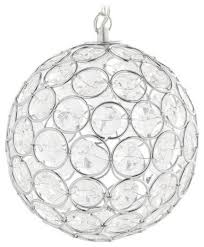 Ball Solar Lights - hoont hanging solar powered ball light with crystals 6