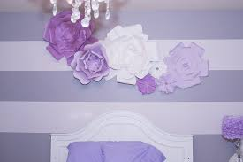 Room Decorating Ideas With Paper Diy Large Paper Flowers