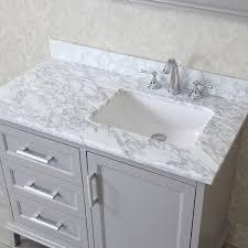 ariel by seacliff nantucket 42 taupe grey single sink bathroom