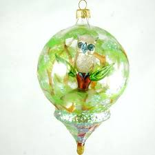 blown ornaments dome with owl ornament 1 blown