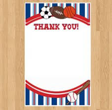 football thank you note football theme thank you by arthomer