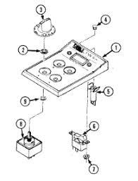 Jennaire Cooktop Parts For Jenn Air C201 Cooktop Appliancepartspros Com