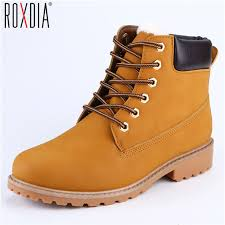 s boots roxdia faux suede leather boots autumn and winter