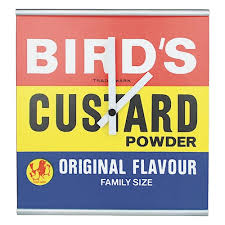 60s Clock Birds Custard Powder Wall Clock Mdf Retro Vintage Opie Logo 50s