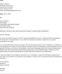 developer cover letter web developer cover letter examples for it