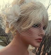hair fascinator wedding fascinator bridal veil vintage style brooch net