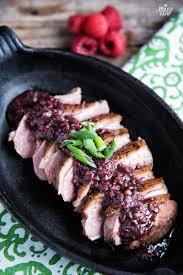 duck in cuisine duck with raspberry sauce paleo leap