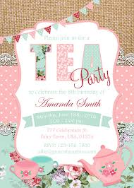 Shabby Chic Invites by Summer Sale 30 Off Tea Party Invitation Birthday Tea