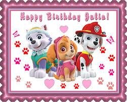edible prints paw patrol edible birthday cake topper or cupcake topper