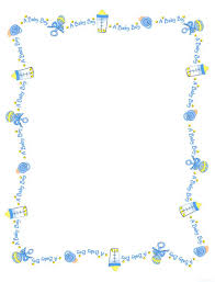 free baby shower clipart borders clipartfest
