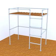Loft Bed Frames San Francisco Loft Bed Frame Pipe Bed Frames Kits Simplified