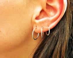 tiny hoop earrings tiny hoop earrings etsy