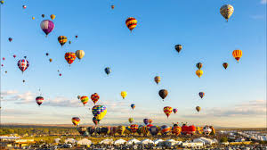 colorful time lapse of air balloons in new mexico