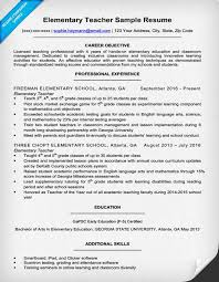 resume exles for teachers elementary resume sle writing tips resume companion
