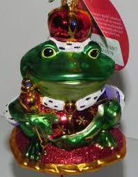 frog groom ornament royal colors frog ornaments