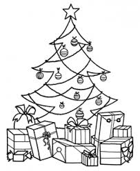 free printable christmas tree coloring pages kids coloring