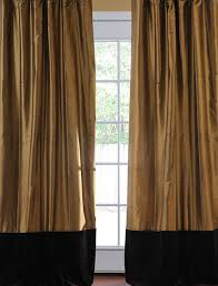 Thai Silk Drapes Gold Curtains And Drapes Decorate The House With Beautiful Curtains