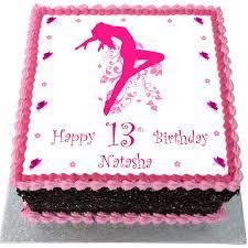 dance birthday cake flecks cakes