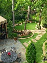 Landscaped Backyard Ideas Landscaping A Sloped Backyard Ideas Outdoor Furniture Design