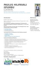 Desktop Support Technician Resume Example by It Technician Resume Samples Visualcv Resume Samples Database