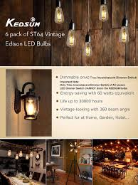 Switch Lighting Led Bulb by Dimmable Edison Led Bulb Kedsum 6w St64 Warm 2200k Amber Glow