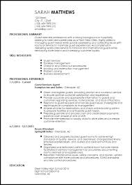 Entry Level Resume Template Endearing Resume Examples Hospitality Industry For Your