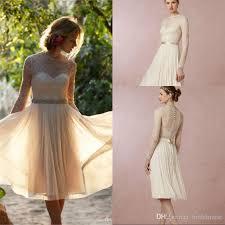Knee Length Wedding Dresses Discount Short Beach Knee Length Wedding Dresses Lace Vintage 2017