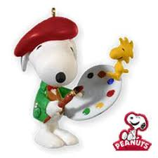 peanuts spotlight on snoopy hallmark ornaments