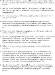 responding to student writing teachers u0027 philosophies and