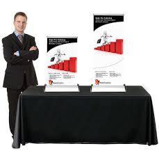table top banner stands tradeshowdisplaypros