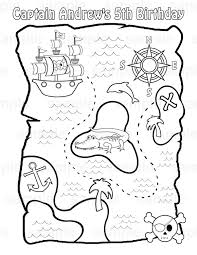 pirate treasure map coloring page free coloring pages on art
