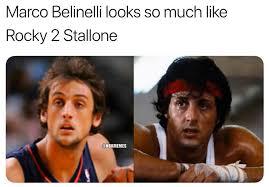 Rocky Meme - nba memes not sure if marco belinelli or rocky facebook