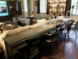 Best  Long Sofa Table Ideas On Pinterest Diy Sofa Table Very - Dining room table with sofa seating