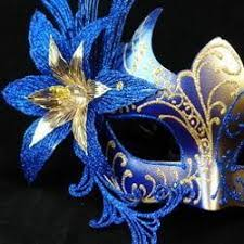 blue masquerade masks blue and gold venetian painted masquerade mask with blue