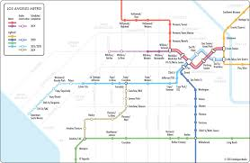 Map Los Angeles Unofficial Map Los Angeles Metro For The Transit Maps