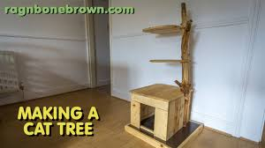 making modern furniture making a cat tree part 1 of 2 youtube