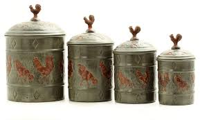 rooster kitchen canisters 4 pc rooster canister set traditional kitchen canisters and