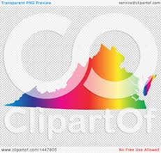 Virginia United States Map by Clipart Of A Gradient Rainbow Map Of Virginia United States Of