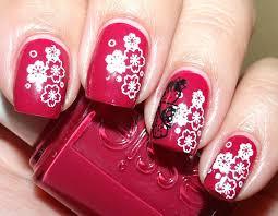 colores de carol essie very cranberry konad s9