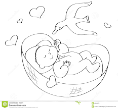 coloring pages of babies sleeping contegri com