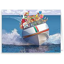 santa s speedboat card boating 18 cards