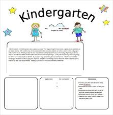kindergarten newsletter template free the letter sample