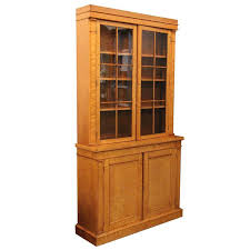 english library bookcase of curly maple in biedermeier style at