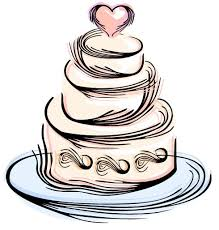 design clipart cake pencil and in color design clipart cake