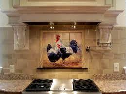 kitchen backsplash tile murals rooster tiles kitchen backsplash tiles black rooster and hen