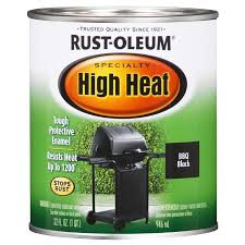 Exterior Paint Lowes - shop rust oleum specialty high heat black flat flat oil based