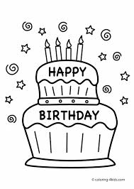 cake coloring pages printable aecost net aecost net