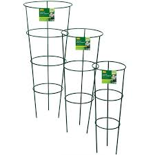 small plant supports gardman grow it conical plant support ring 75cm charlies direct