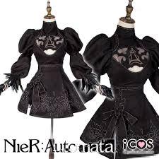 aliexpress com buy nier automata 2b cosplay costume black dress