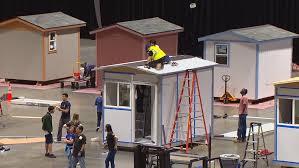 seattle city light transfer volunteers build dozens of tiny homes for seattle s homeless komo